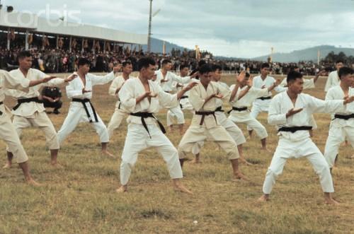 Judo Class at South Vietnam Military Academy